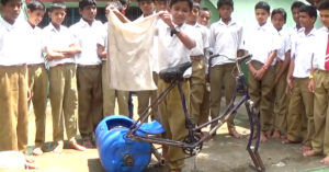 young Indian innovates washing machine