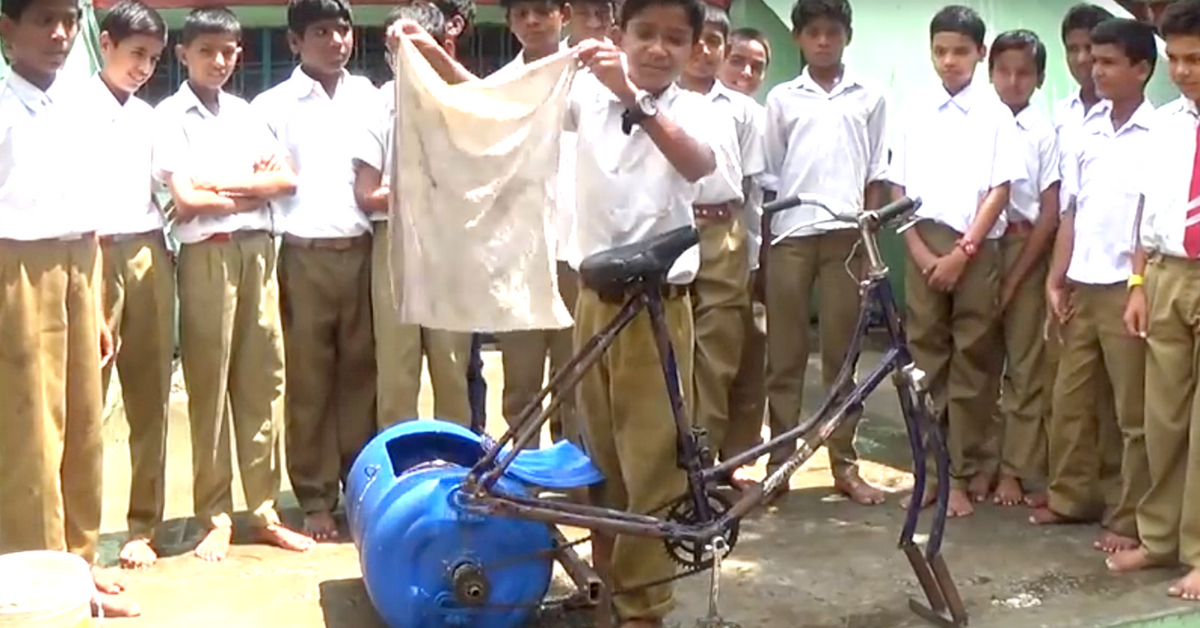 Watch: MP School Kid Builds Simple Washing Machine That Needs No Electricity!