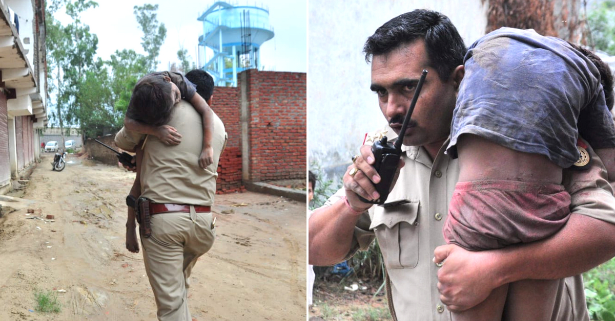 Ghaziabad Building Collapse: Quick-Thinking Hero Cop Saves Injured Child's Life!