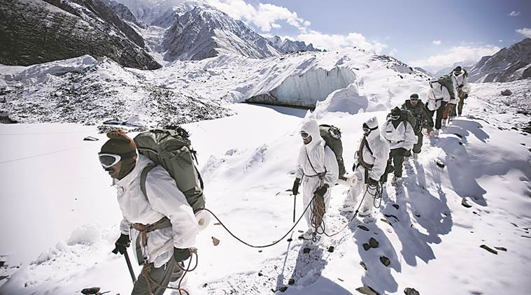 Soldiers marching on at Siachen Glacier. For representational purposes only. (Source: YouTube/ Siddharth Venu)