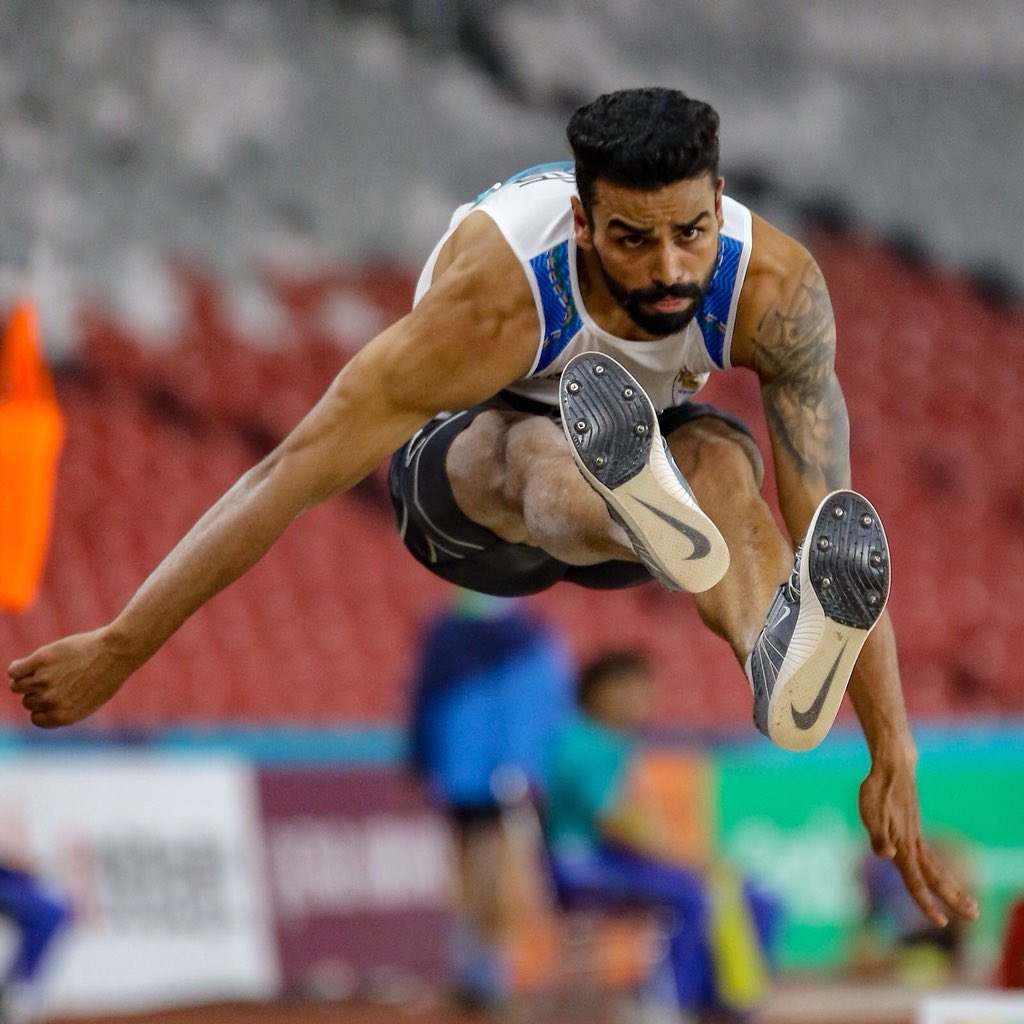 Arpeinder Singh in action during the 2018 Asian Games. (Source: Twitter/Virender Sehwag)