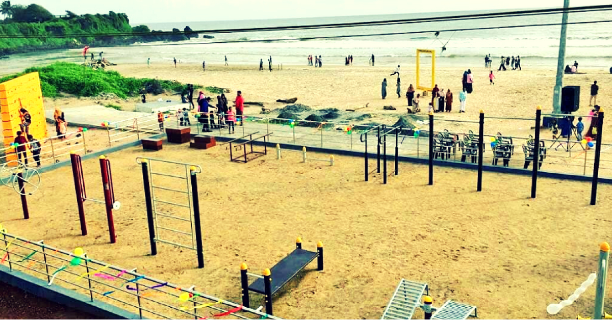 Fitness By The Sea: Kannur Gets India's 1st Open Gym-On-A-Beach, 'The Amphibian'!
