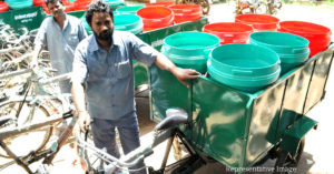 Chennai and other places in Tamil Nadu will soon have batter-operated 3-wheeler trash collection machines. Representative Image Only. Image Credit: சிங்கார சென்னை