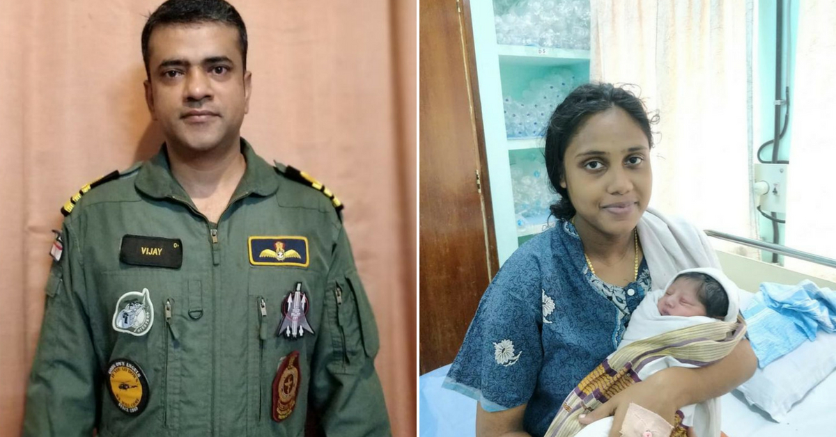 Commander Vijay Varma (Left), rescued Sajitha, who was pregnant and stranded in the floods, and delivered her son after evacuation. Image Credit: Barkha Dutt
