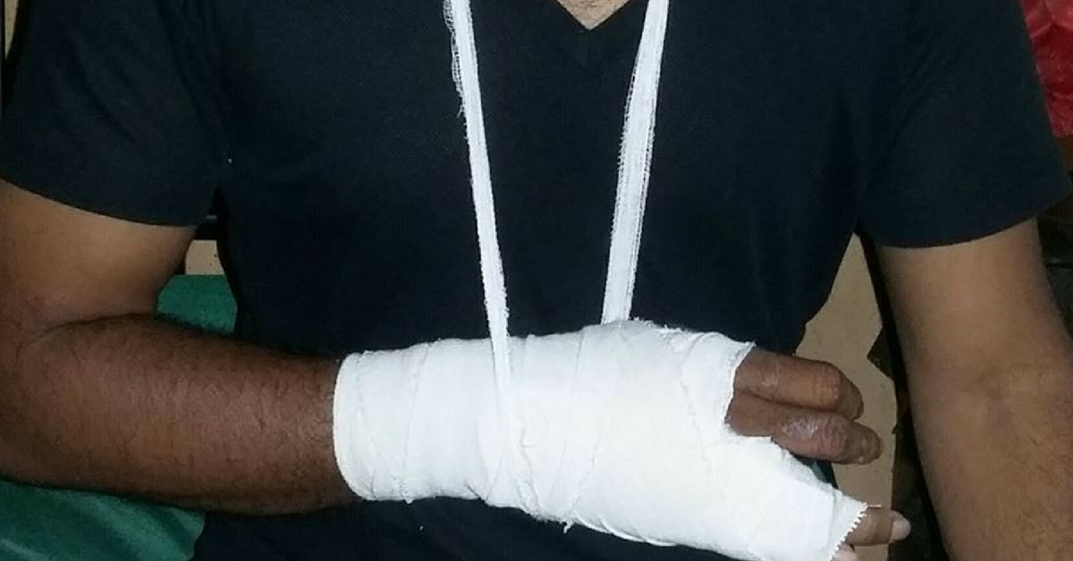 For a fracture, immobilise the affected limb as a first aid precaution. Image Credit: Newton Lucky