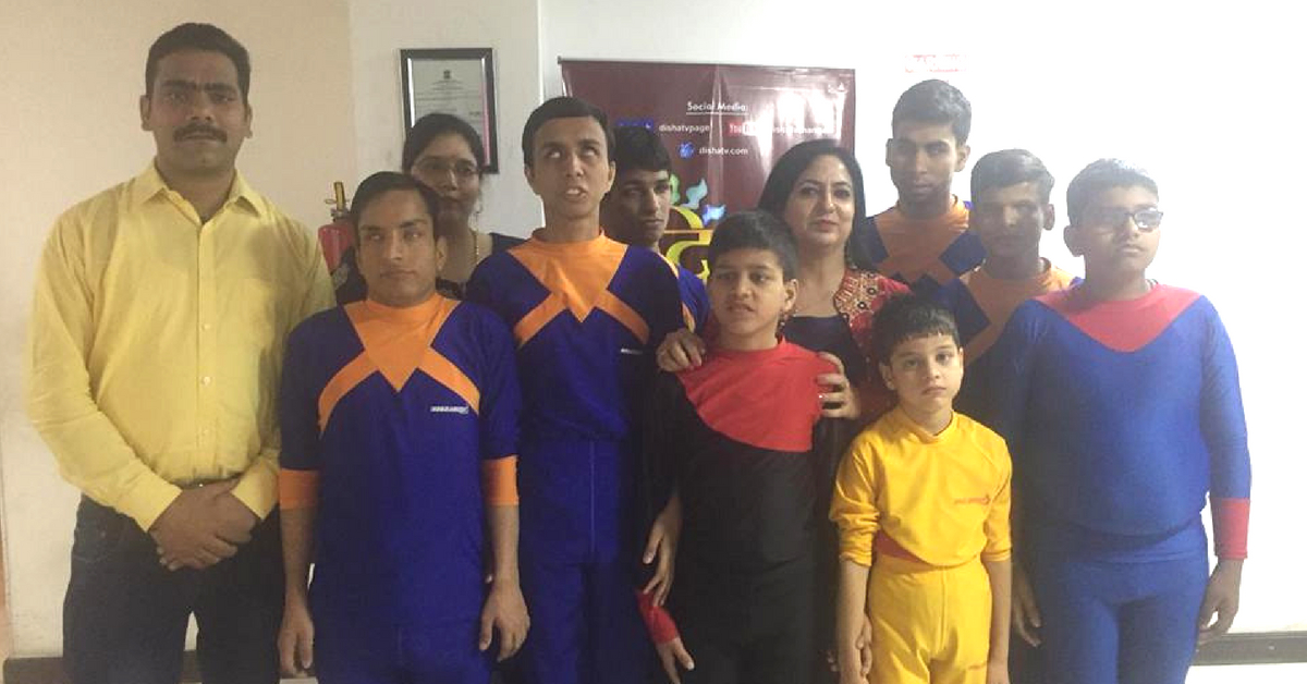 Hemant has been working with visually-challenged children in Delhi for a while now. Image Credit:  Yoga Artists
