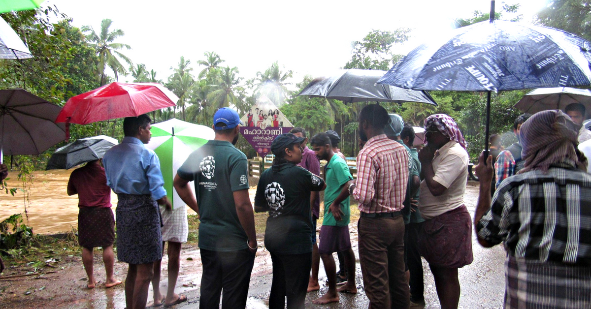 In Kerala HSI volunteered to save stranded animals in the floods.