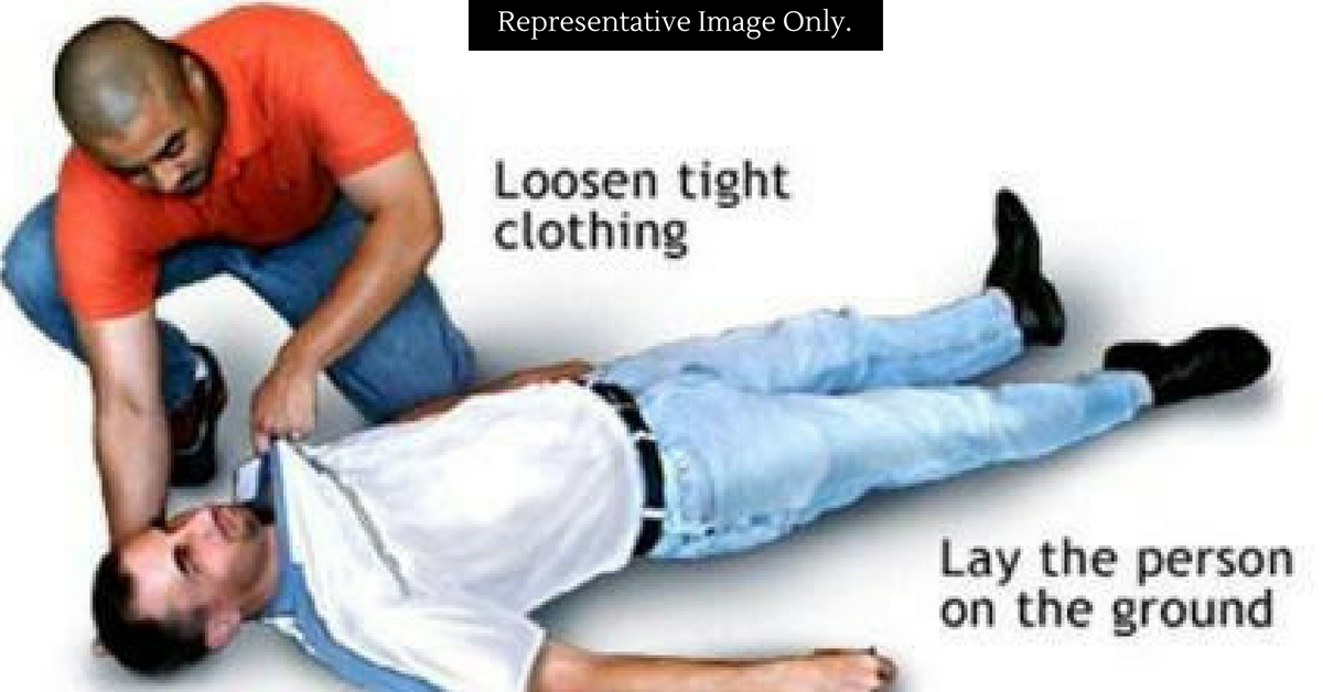 In case of a seizure, make the person lie down and feel comfortable, as a first aid measure. Representative Image Only. Image Credit: Lets Speak India.
