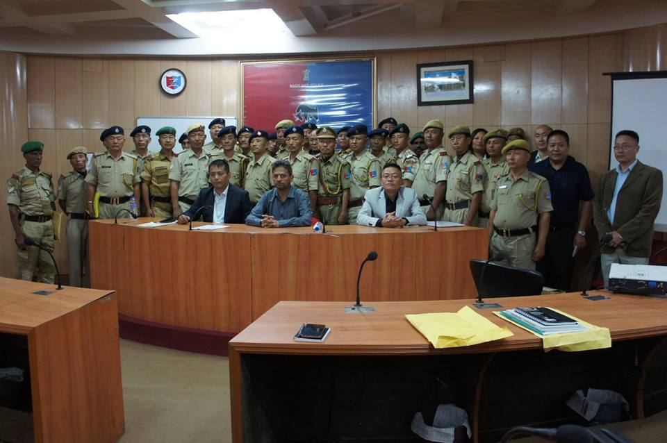Former DGP Rupin with fellow police officers from the Nagaland cadre. (Source: Facebook/Rupin Sharma)