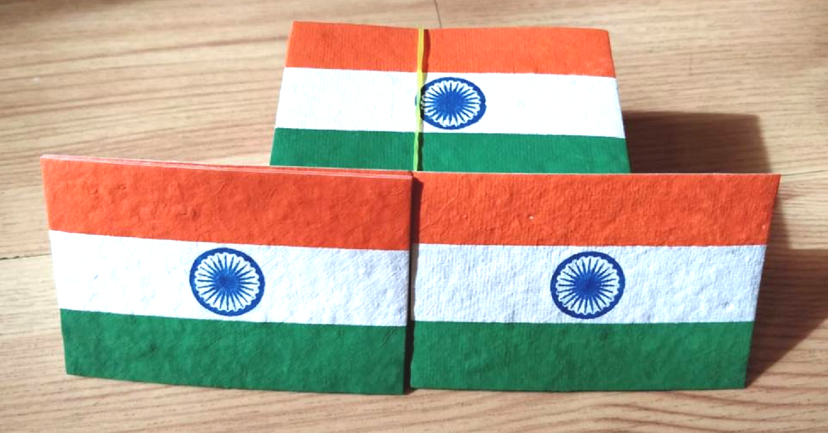 Eco-friendly flag (Source: Facebook/Indusjaivik Aura)