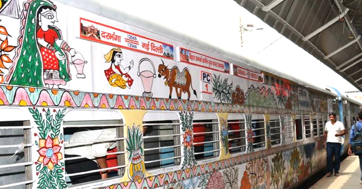 The Bihar-Delhi train was a surprise for most passengers who saw it. Image Credit: Northern Railway