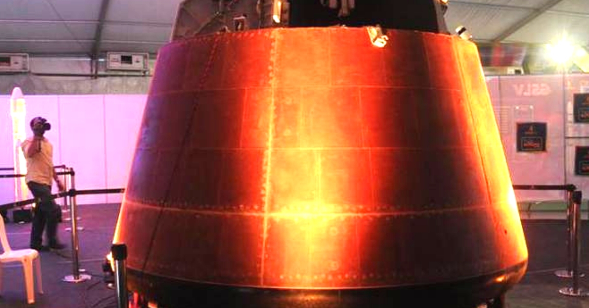 This is the capsule the ISRO plans to use for Gaganyaan. Image Credit: Next Generation Weapons Technology