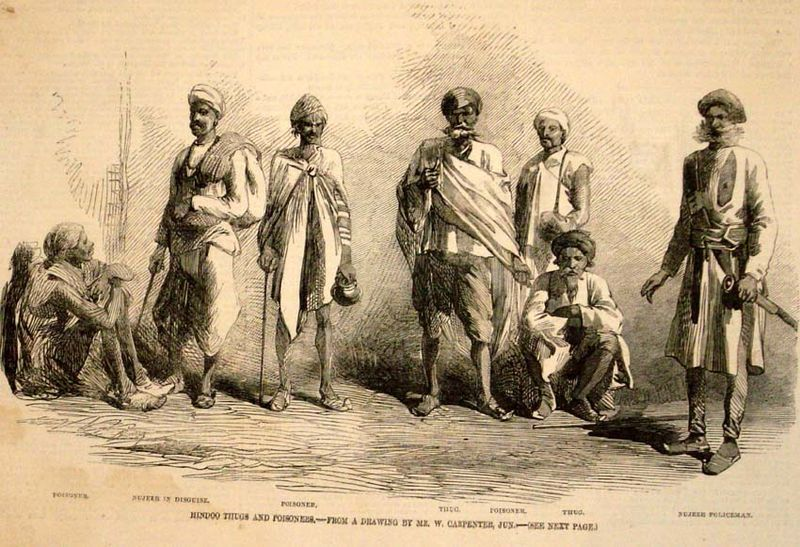 Another sketch of Thugs (Source: Wikimedia Commons)