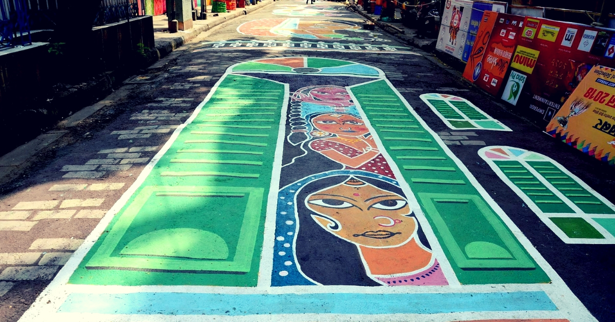 Dedicated to Sex Workers, Kolkata Durga Puja Club's Stunning Street Graffiti Will Wow You!