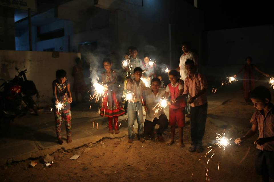 You may celebrate Diwali next year with 'Green Crackers' with authorities expected to clamp down on conventional firecrackers. (Source: Facebook/Mannem Sridhar Reddy Siddhu)
