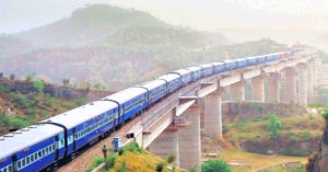 The Bilaspur-Leh-Manali line will see trains with pressurised cabins. Image Credit:- Rail Analysis India