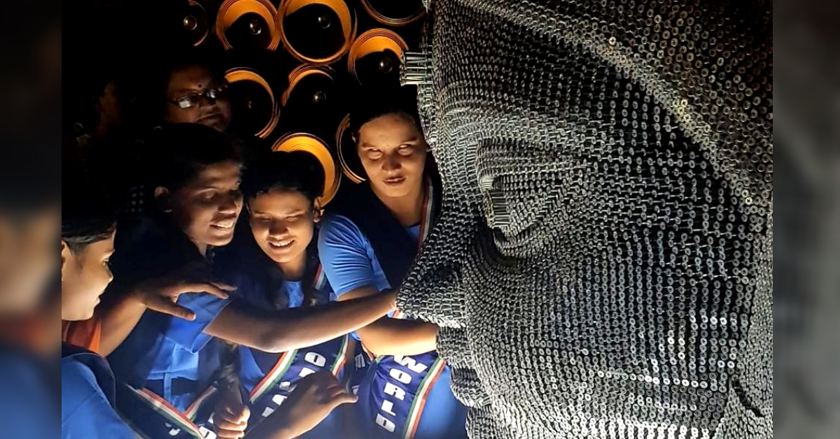 Idol of 12000 Nails: Unique Effort Makes Durga Puja Special for Kolkata's Blind!