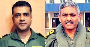 Indian Navy Commander (Pilot) Vijay Varma (left) and Captain (Pilot) P. Rajkumar. )SOURCE: TWITTER/ CAPTAIN P RAJKUMAR)