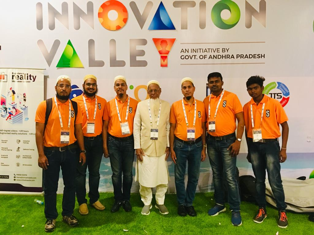 Saif Seas team photo. Ahmed Shaikh Abdeally (Centre) surrounded by Taher Ahmed to the right and Aliasgar Calcuttawala to the left. (Source: Saif Automation)