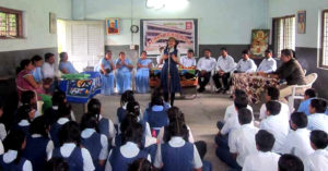 Students at a Sumana Secondary School in Surat. (Source)