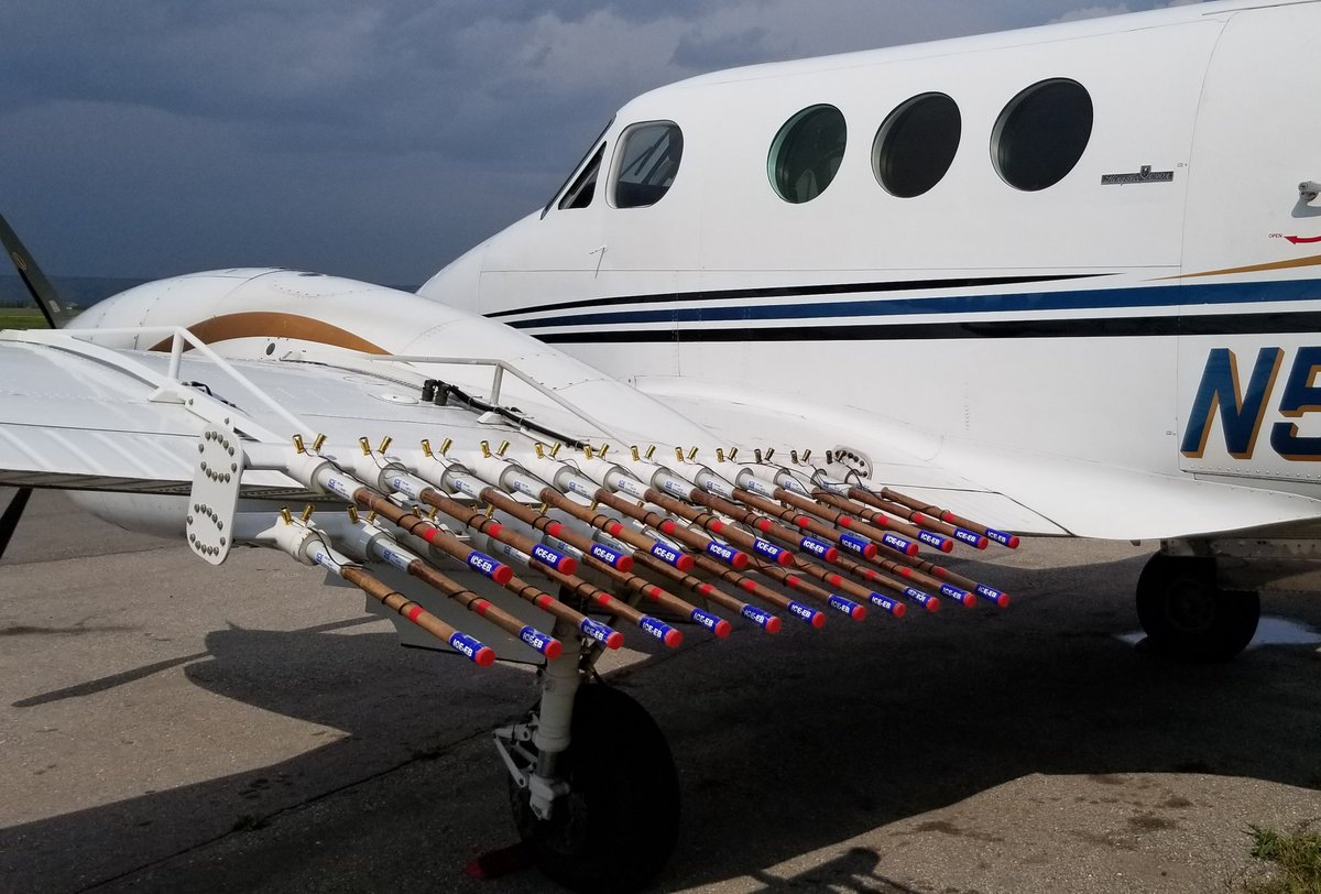 Cloud seeding will be done through an aircraft which will transport and disperse the necessary silver iodide. (Source: Twitter/Kyle Brittain)