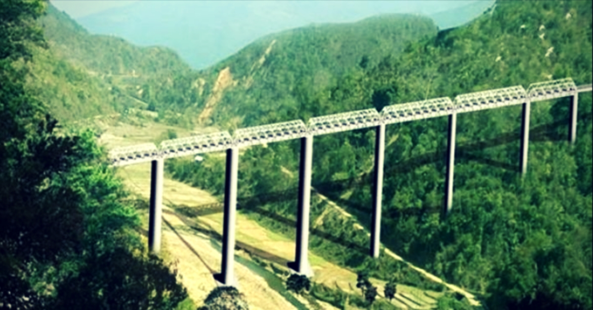 45 tunnels & Twice the height of Qutub Minar: Manipur To Have World's Tallest Railway Bridge!