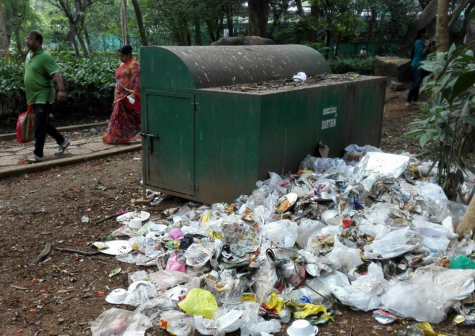 Plastic waste is still a very serious problem in Bengaluru.