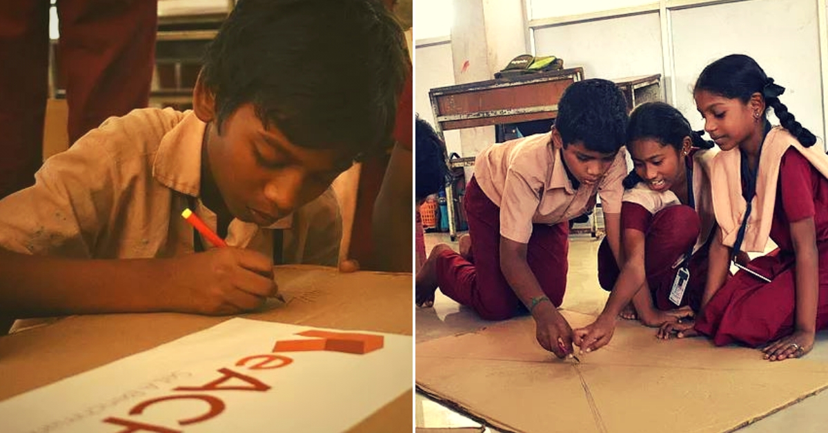 IIT-M Students Upcycle Discarded Cardboard Into 400+ Desks for Govt School Kids!