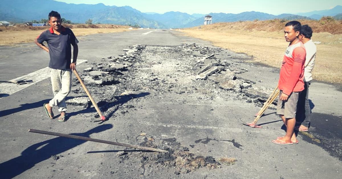 Residents of 11 Villages Join Forces, Help IAF Repair Damaged Airstrip in Arunachal Pradesh
