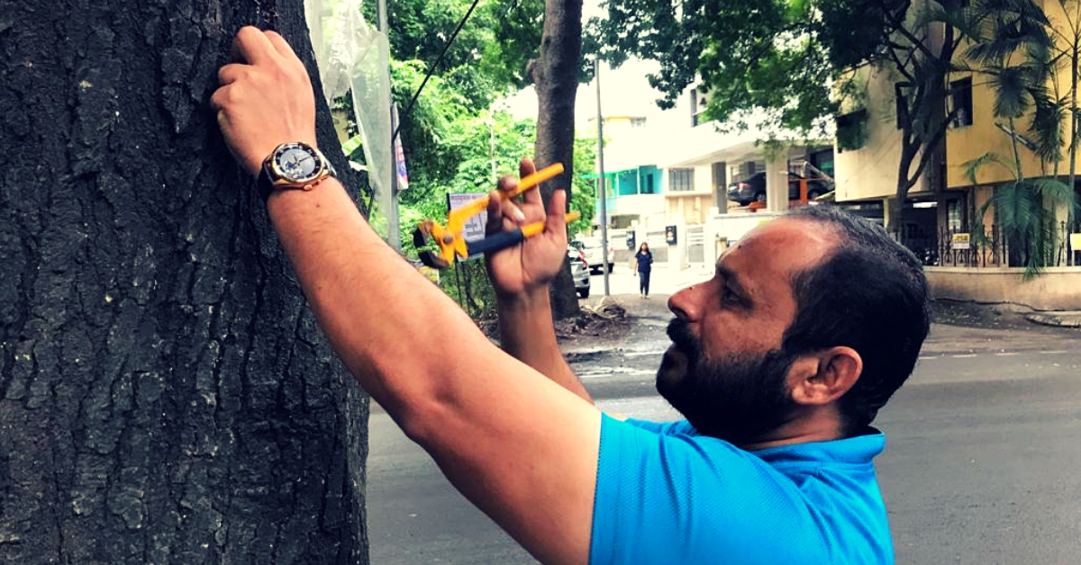 Inspired by 6-YO Daughter, Pune Man Helps Remove 50,000 Nails from 6000 Trees