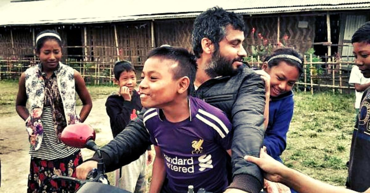 IIT Grad Quits Singapore Job to Teach Poor Kids From 11 Flood-Prone Assam Villages!