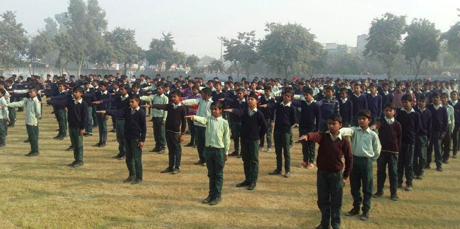 Students take an oath never to cheat.