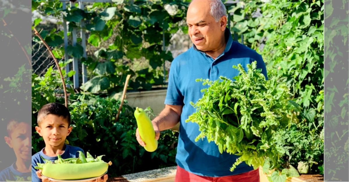 Heartwarming! Pune Grandpa & 6-YO Grandson Grow 8 Types of Organic Veggies