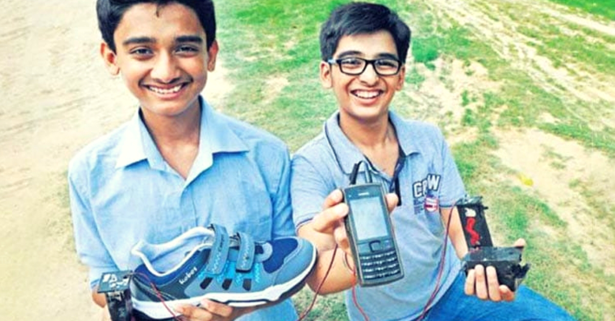 Delhi Teens Invent Device That Lets You Charge Your Phone By Walking. Brilliant!