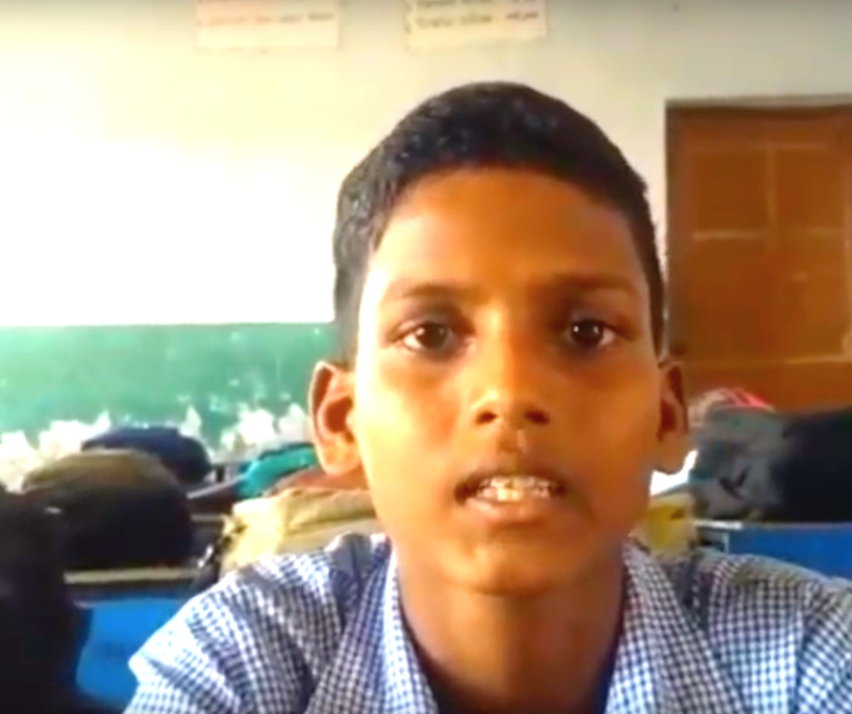 Lalit, a Class VII student from Rohtak Haryana, and a TABLAB beneficiary. (Source: iDream Education)