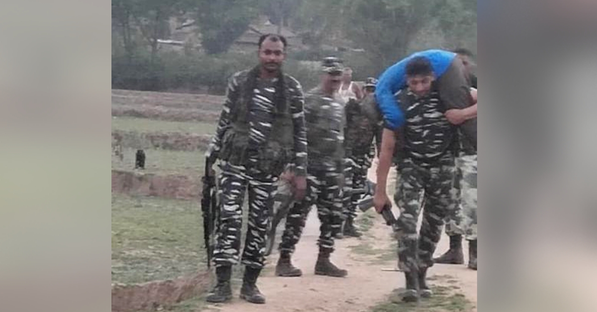 CRPF Jawan Carries Sick Poll Official on Shoulders for 3 KM, Ensures Timely Medical Aid