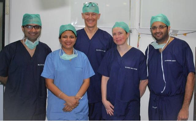 """The team who works on """"Spreading smiles"""". Image courtesy: Dr Pushkar Waknis (Far Right)"""
