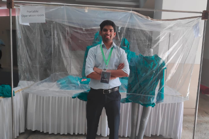 Brilliant! IIT-B Grad Designs A Portable Operation Theatre That Can Fit In A Backpack