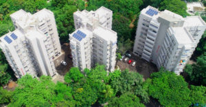 Mumbai society solar waste rainwater harvesting waste compost india