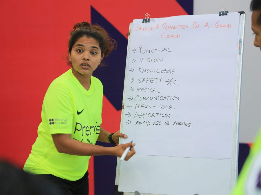 Tanaz is a confident coach educator, imparting her knowledge to young children in Mumbai.