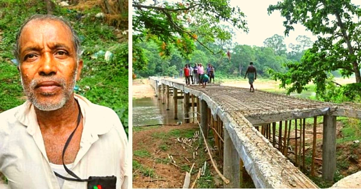 This Retd Odisha Man Used His Pension Savings To Build a Bridge For His Village