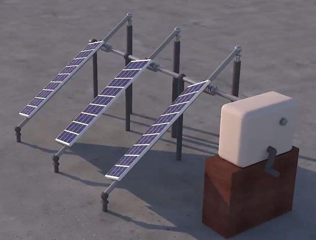 Household Mechanical Solar Tracker. (Source: Invent@IITGN.)
