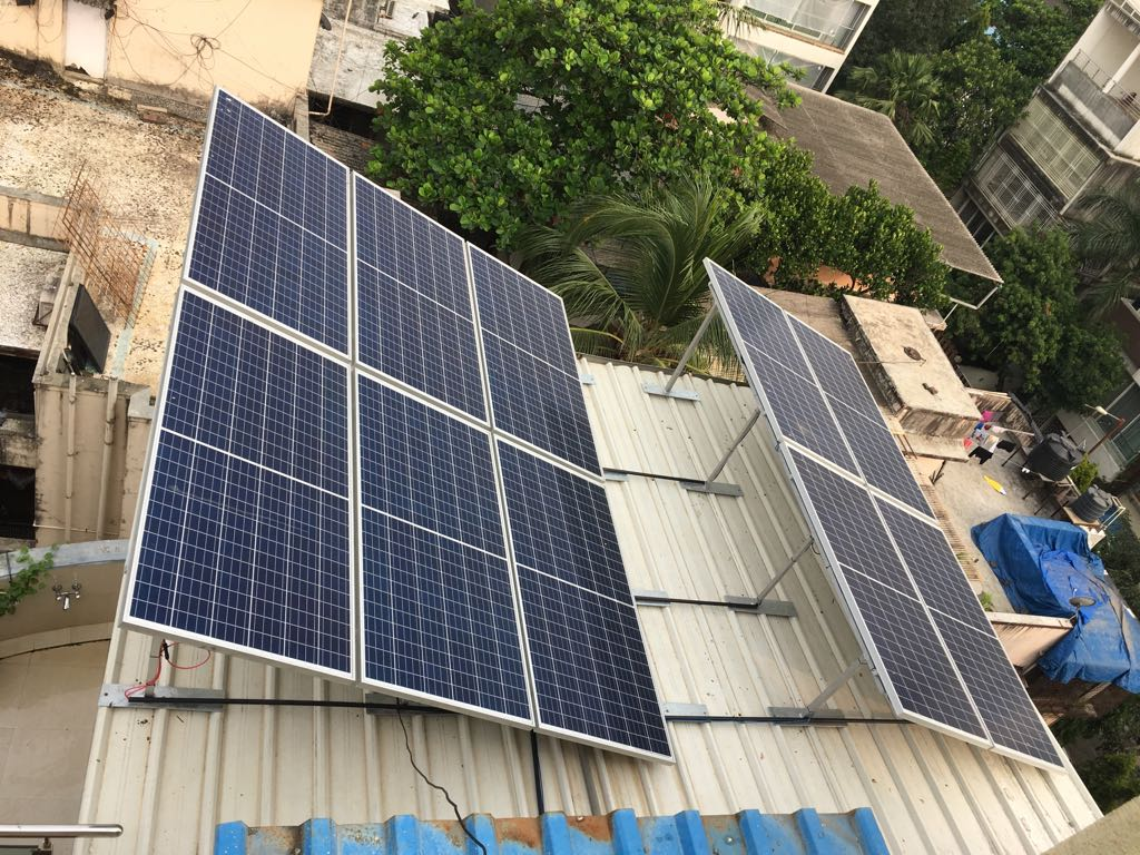 Solar panels running the Lewis Household. (Source: Dr Reema Lewis)