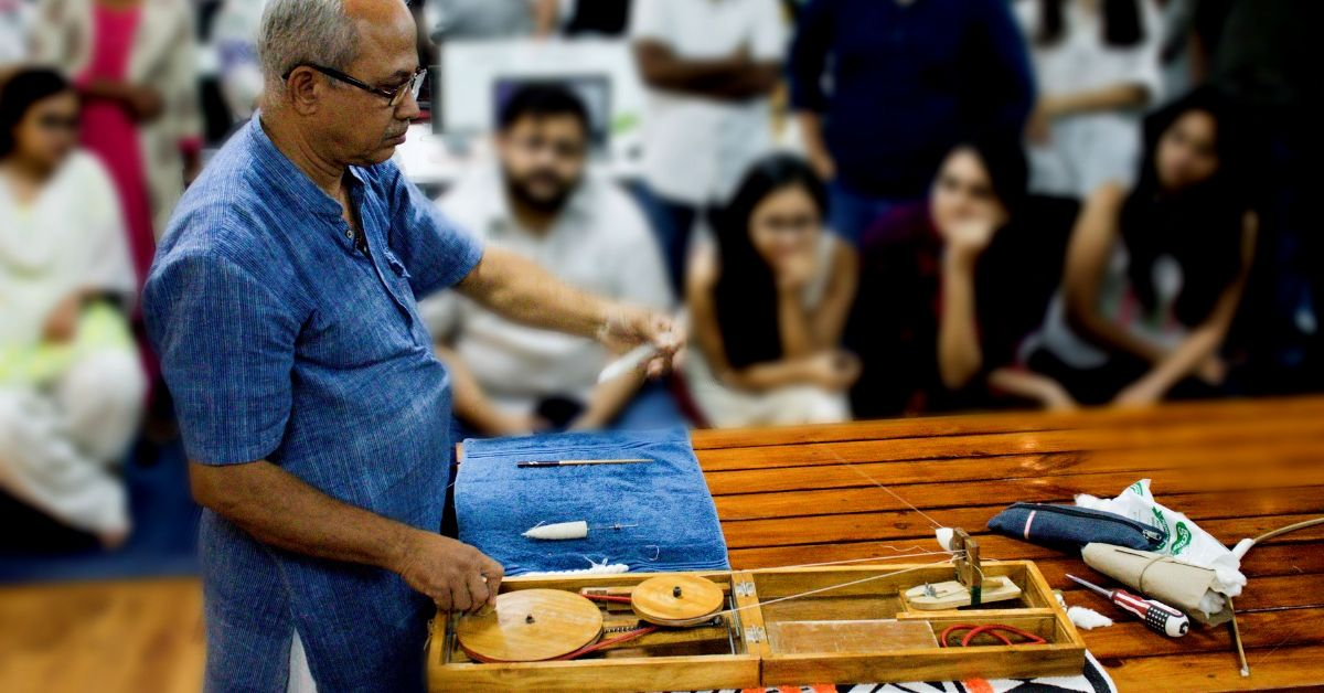 This 62-YO Puneri Will Teach You How To Make Your Own Clothes, One Spin At a Time!