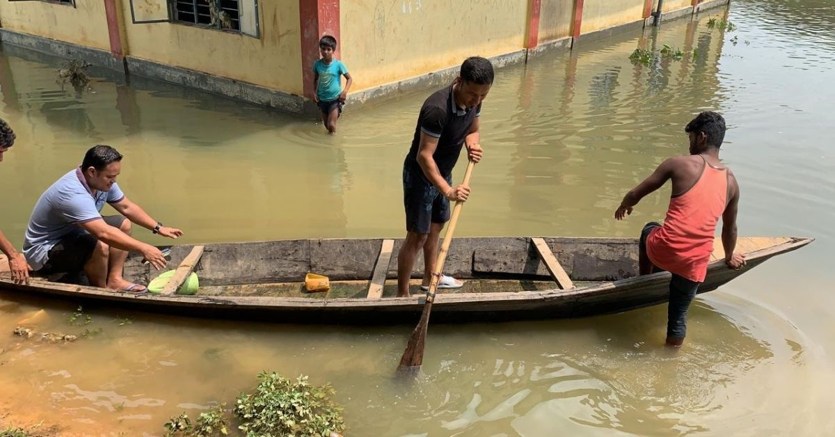 Meghalaya IAS Travels in Boats to Flooded Villages to Ensure Safety of 1 Lakh Citizens