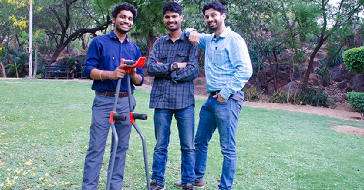When a Friend Fractured His Leg, These IITians Built Anti-Skid Crutches For Him!