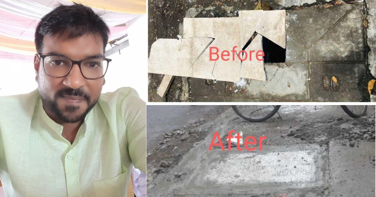 Mumbai Man Sees Open Drains Outside School, Does This to Get Them Fixed in 24 Hours