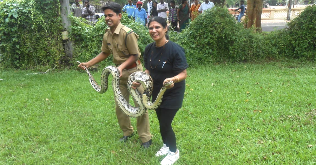 60-YO Kerala Woman Shatters Age Stereotypes, Has Rescued 1000s of Snakes!