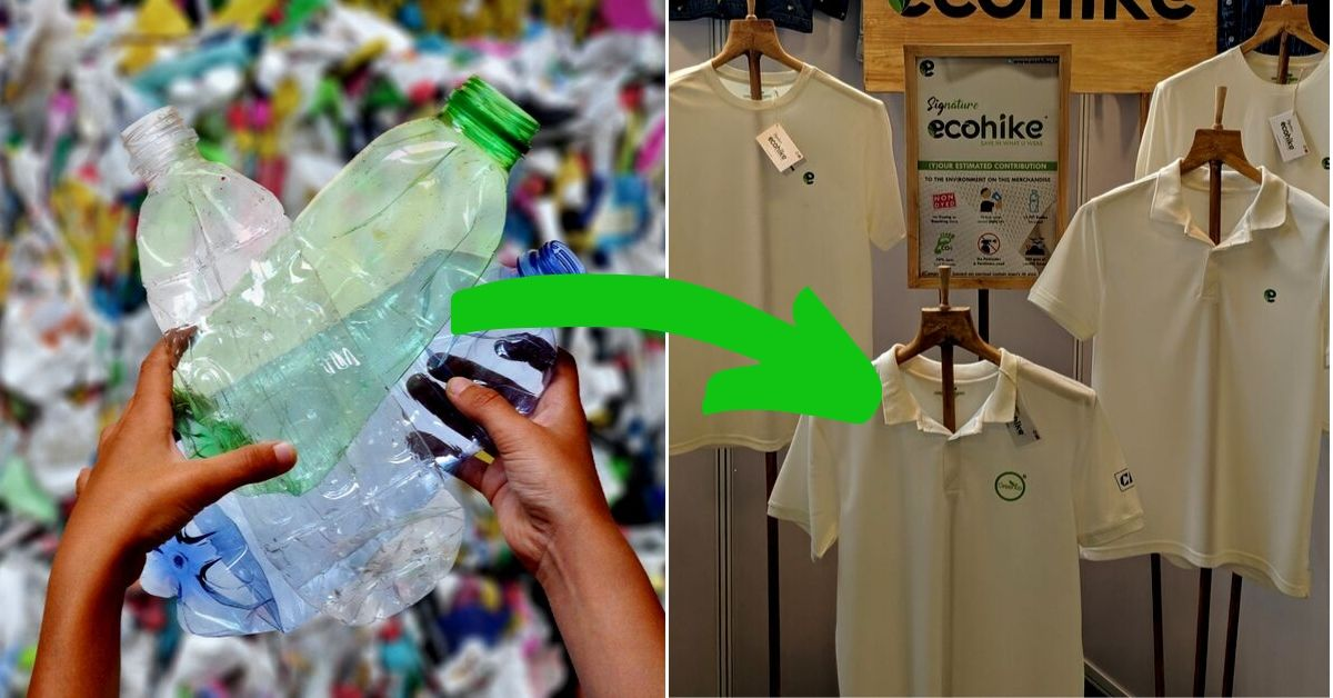 Grab This T-Shirt & You Recycle 12 PET Bottles and Save 2700 Litres of Water!