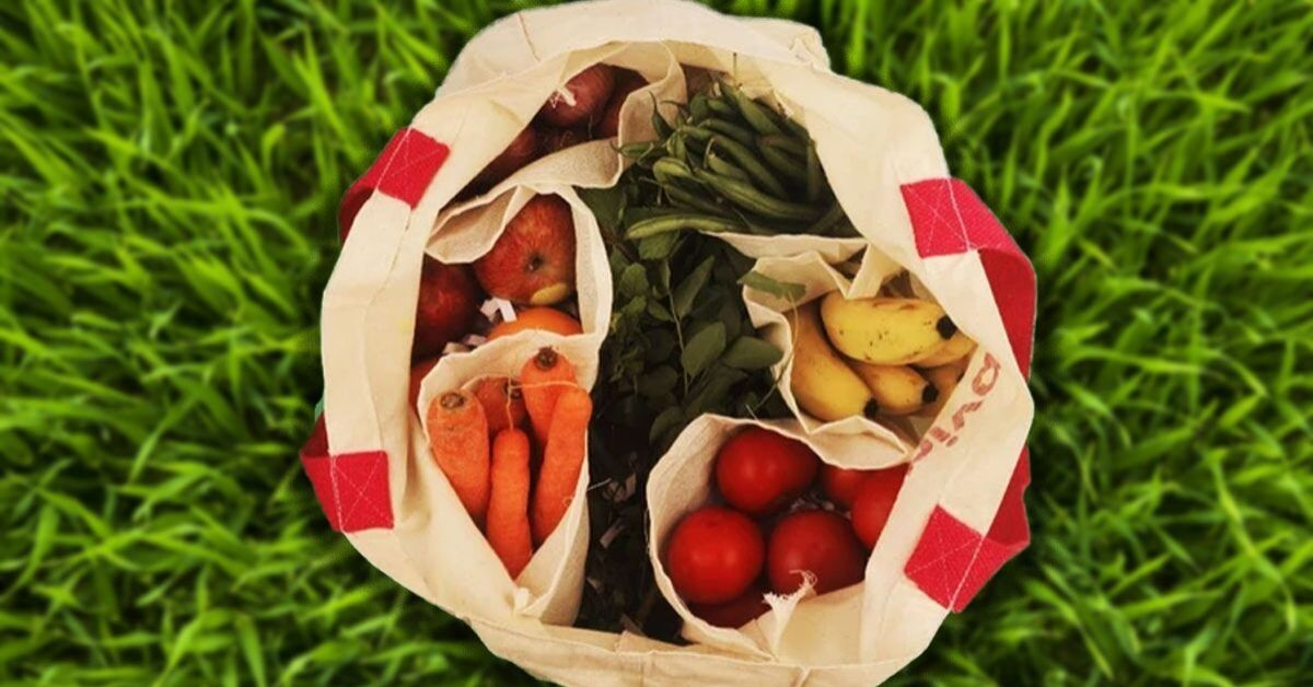 With 6 Pockets, This Rs 165 Bag Makes Plastic-Free Veggie Shopping Super Easy!